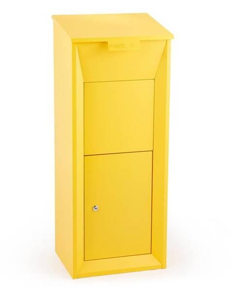 Waldbeck Waldbeck Postbutler Paketbox poštovní schránka na balíky stojící poštovní schránka žlutá