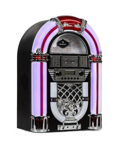 Auna Arizona, jukebox, BT, FM rádio, USB, SD, MP3, CD přehrávač, černý
