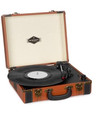 Auna Jerry Lee BT, gramofon, BT, USB, nahrávání a přehrávání, hnědý