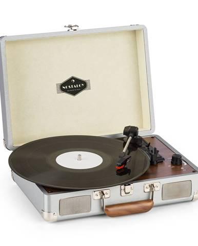 Auna Peggy Sue, gramofon, stereo, USB, stříbrný