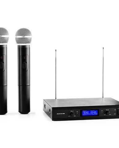 Auna Pro VHF-400 Duo 1, 2kanálová sada VHF bezdrátových mikrofonů, 1 x přijímač, 2 x ruční mikrofon