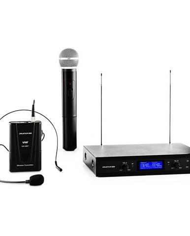 Auna Pro VHF-400 Duo 3, 2kanálová sada VHF bezdrátových mikrofonů, 1 x headset mikrofon + 1 x ruční mikrofon