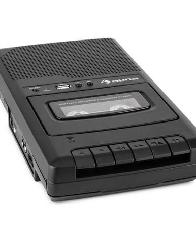 Auna RQ-132USB, kazetový magnetofon, diktafon, kazety, rekordér, mikro USB