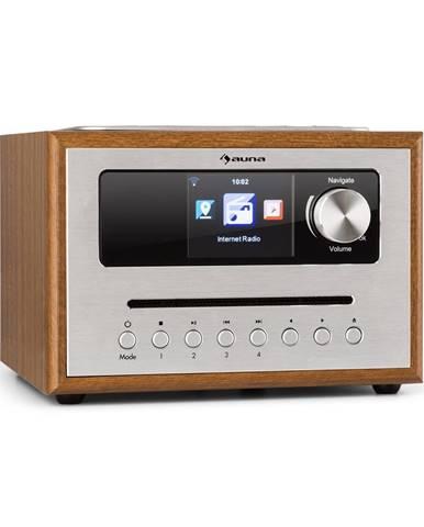 Auna Silver Star CD Cube, rádio, bluetooth, HCC displej, dřevo, hnědé