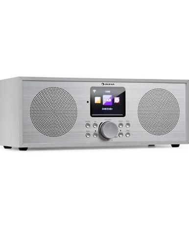 Auna Silver Star Stereo, internetové DAB+/FM rádio, WiFi, BT, DAB+/FM, bílé