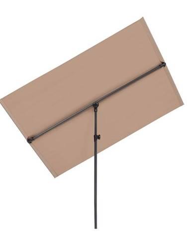 Blumfeldt Flex-Shade L slunečník, 130 x 180 cm, polyester, UV 50, šedohnědá