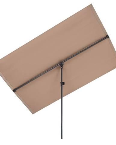 Blumfeldt Flex-Shade XL slunečník, 150 x 210 cm, polyester, UV 50, šedohnědá