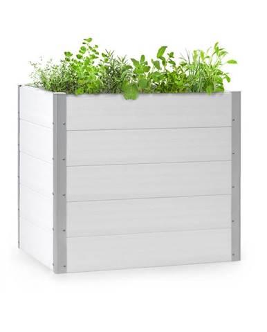 Blumfeldt Nova Grow, zahradní záhon, 100 x 91 x 100 cm, WPC, dřevěný vzhled, bílý