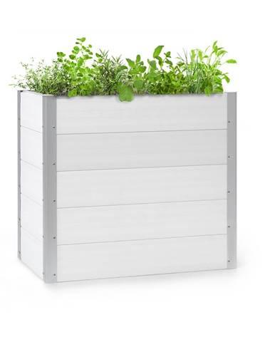 Blumfeldt Nova Grow, zahradní záhon, 100 x 91 x 50 cm, WPC, dřevěný vzhled, bílý