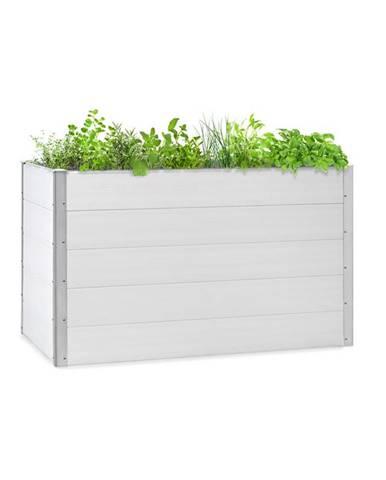 Blumfeldt Nova Grow, zahradní záhon, 150 x 91 x 100 cm, WPC, dřevěný vzhled, bílý