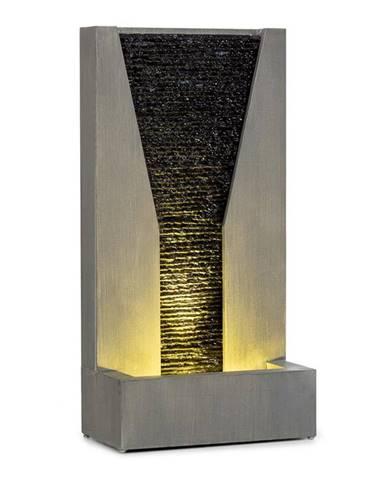 Blumfeldt Riverrun zahradní fontána, vnitřní / vnější prostředí, 12 W čerpadlo, LED, 10 m kabel, pozinkovaná