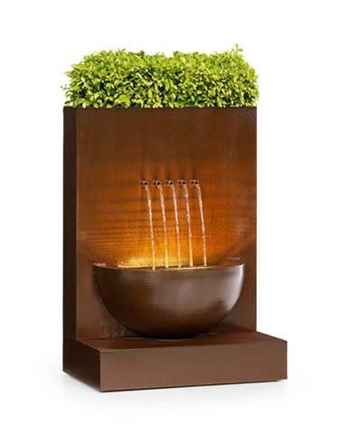 Blumfeldt Windflower, záhradní fontána s květináčem, 11 W, pozinkovaný kov, hnědá