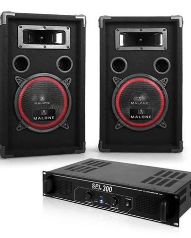 """Electronic-Star DJ PA set """"Soundbash"""" pár PA reproduktorů a zesilovač 300 W"""