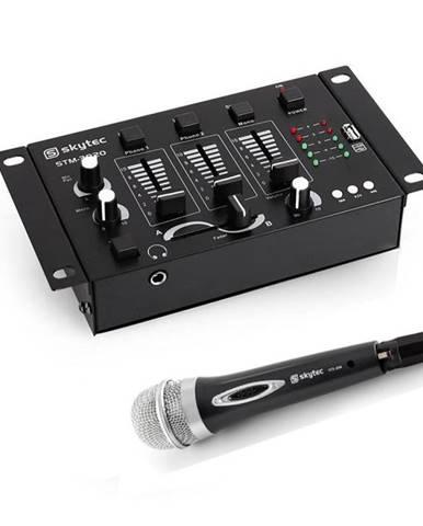Electronic-Star Mini DJ set, 3/2 kanálový mixážní pult, ruční mikrofon