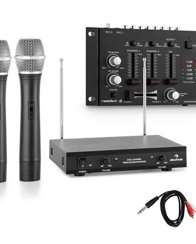 Electronic-Star Sada bezdrátových mikrofonů s 3 kanálovým zesilovačem, černá