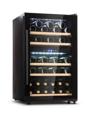 Klarstein Barossa 40D, vinotéka, 2 zóny, 135 l, 41 lahví, skleněné dveře, dotykové ovládání