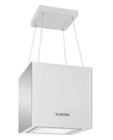 Klarstein KRONLEUCHTER, 600M³ / H, BÍLÝ, STROPNÍ ODSAVAČ PAR, ZÁVĚSNÝ, LED, SKLO, zrcadlící se strany