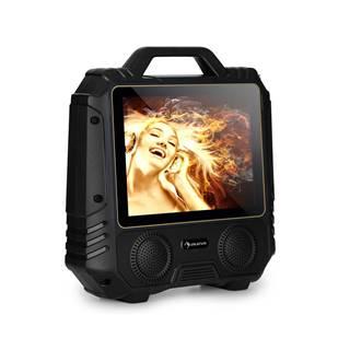 """Auna Centerstage 4, přenosný karaoke reproduktor, 30 W, 14.1"""" displej, bezdrátový mikrofon"""