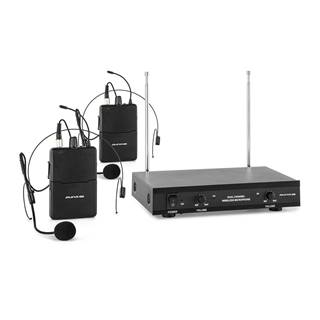 Auna Pro VHF-2-HS 2kanálová VHF mikrofonní sada 2x headset 50 m