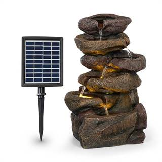 Blumfeldt Savona, solární fontána, 2,8 W, polyresin, 5 hod., Akumulátor, LED osvětlení, vzhled kamene