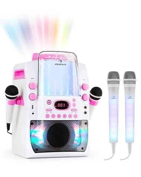 Auna Auna Kara Liquida BT růžová barva + DAZZLE mikrofonní sada, karaoke zařízení, mikrofon, LED osvětlení