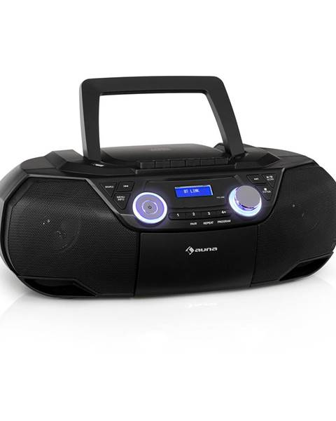 Auna Auna Roadie 2K, boombox, CD přehrávač, kazetové rádio, DAB/DAB+, UKW, bluetooth, černý