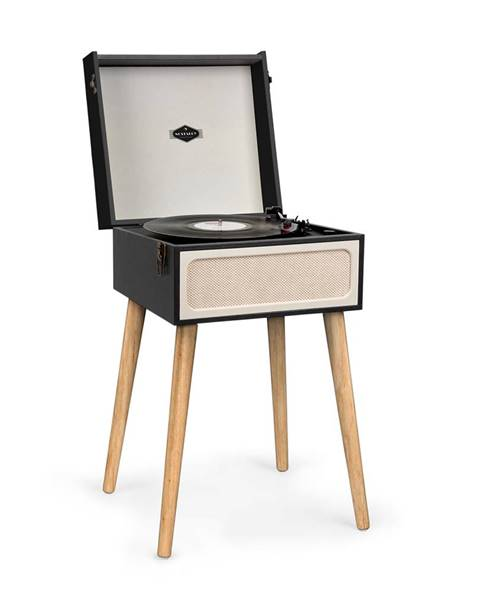 Auna Auna Sarah Ann, gramofon, bluetooth, USB, 33, 45 a 78 ot./min., černý/krémový