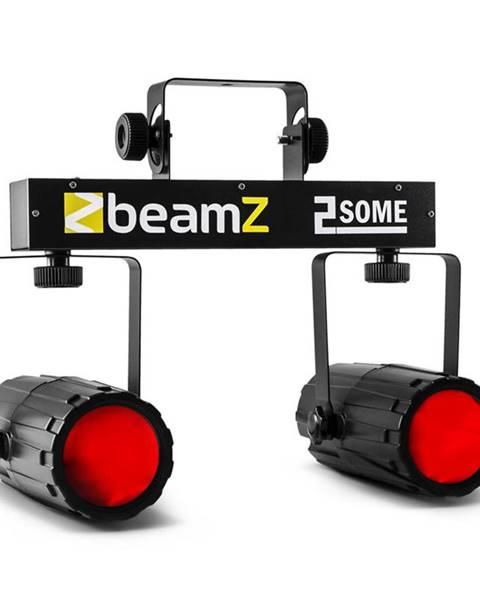 Beamz Beamz 2-Some, sada dvou LED reflektorů v RGBW s mikrofonem