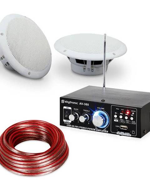 """Electronic-Star Electronic-Star 4-dílná sada terasového a koupelnového zesilovače s reproduktory, 5 """", Speaker Sound Set 5"""" voděodolné"""