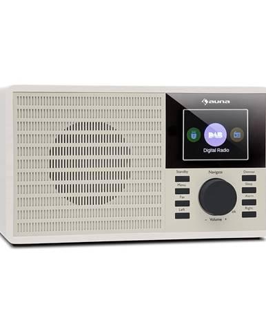"Auna DR-160 BT, DAB+/FM rádio, USB, AUX, 2.4"" TFT displej, bílé"