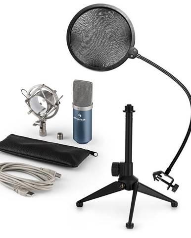 Auna MIC-900BL V2, USB mikrofonní sada, kondenzátorový mikrofon + pop-filter + stolní stativ