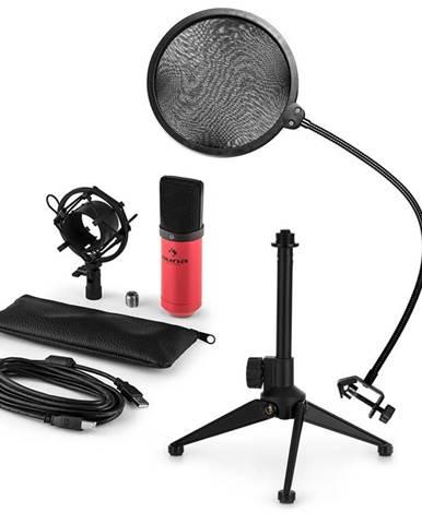 Auna MIC-900RD V2, USB mikrofonní sada, kondenzátorový mikrofon + pop-filter + stolní stativ