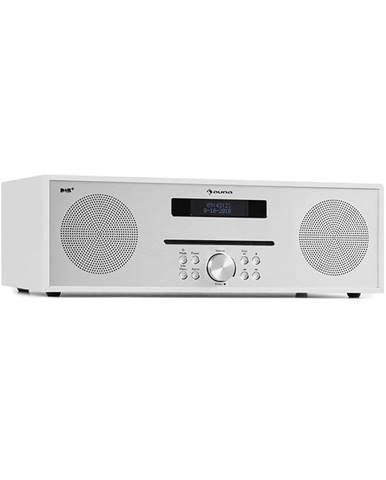 Auna Silver Star CD-DAB, rádio s CD, 2 x 20 W max., štěrbinový CD přehrávač, DAB+, BT, ALU, bílý