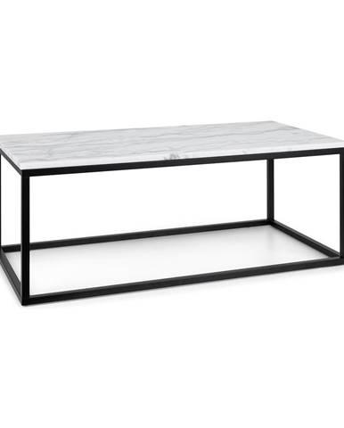 Besoa Volos T100, konferenční stolek, 100 x 40 x 50 cm, mramor, interiér i exteriér, černý/bílý