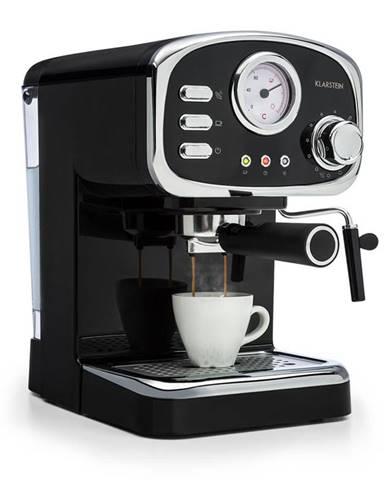 Klarstein Espressionata Gusto, espresso kávovar, 1100 W, tlak 15 bar, černý