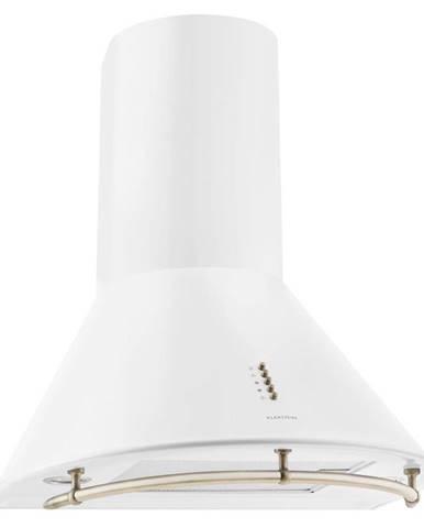 Klarstein Noir Prima, bílý, 60 cm, 430 m3/h, retro komínový odsavač par, nerez