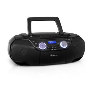 Auna Roadie 2K, boombox, CD přehrávač, kazetové rádio, DAB/DAB+, UKW, bluetooth, černý