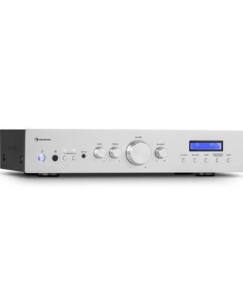 Auna Auna AMP-CD608 DAB, HIFI stereo zesilovač, 4x100W, RMS, DAB+BT, optický vstup, dálkový ovladač