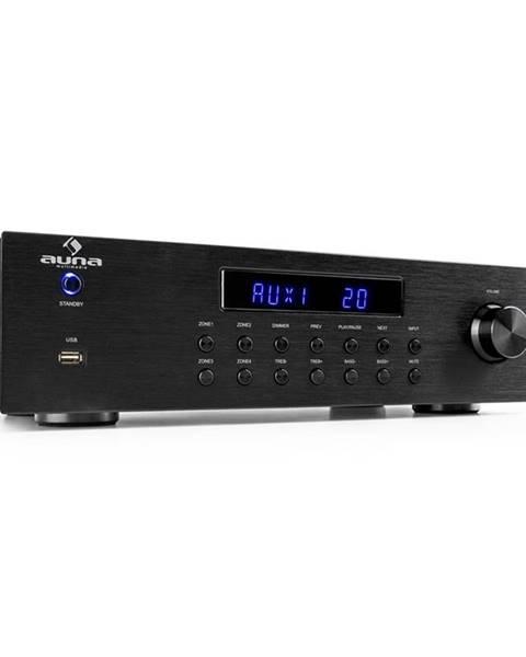 Auna Auna AV2-CD850BT, 4-zónový stereo zesilovač, 8 x 50 W RMS, bluetooth, USB, CD, černý