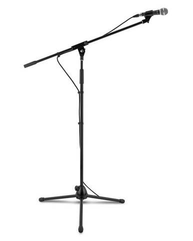 Auna KM 02, 4 dílný mikrofonní set, stojan na mikrofon, svorka, 5 m