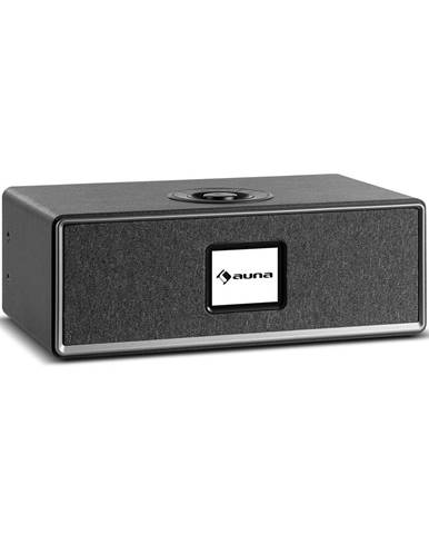 Auna Simpfy Wireless, reproduktor, DAB+/FM, BT, LCD-display, dřevěné tělo