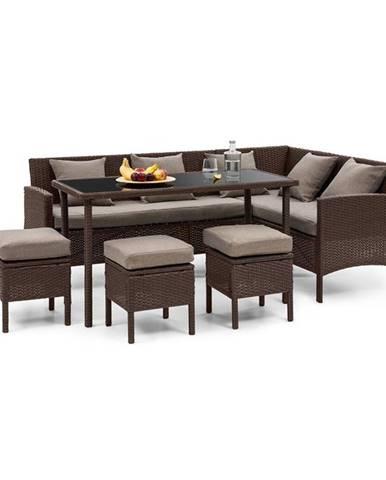 Blumfeldt Titania Dining Lounge set zahradní sedací souprava, hnědá / hnědá