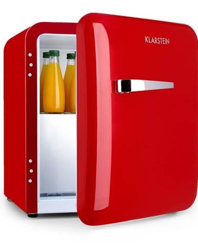 Klarstein Audrey, mini chladnička, EEC A+, mrazicí složka, LED, červená