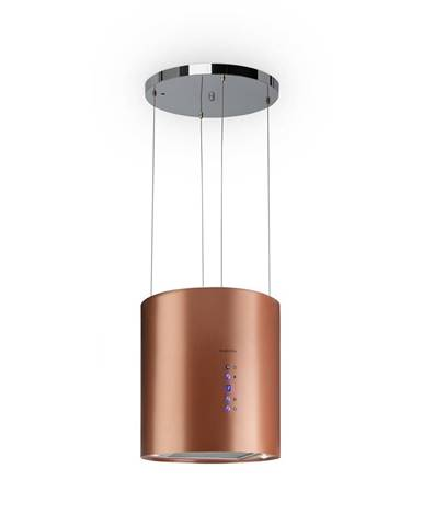 Klarstein Barett, ostrůvková digestoř, Ø 35 cm, recirkulace vzduchu 560 m³/h, LED, měděný