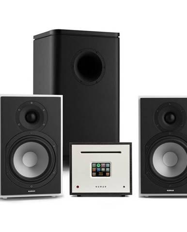 Numan Unison Reference 802 Edition, stereo systém, zesilovač, reproduktory, bílo/černá