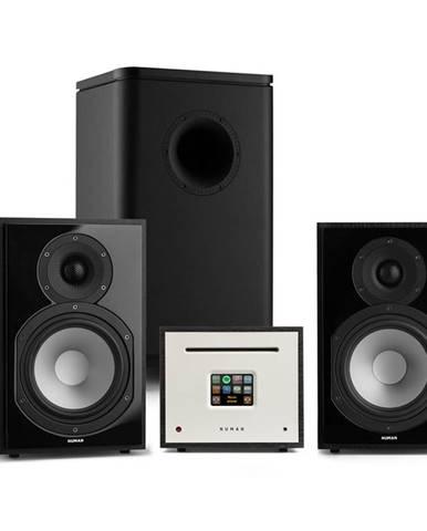 Numan Unison Reference 802 Edition, stereo systém, zesilovač, reproduktory, UniSub,černá
