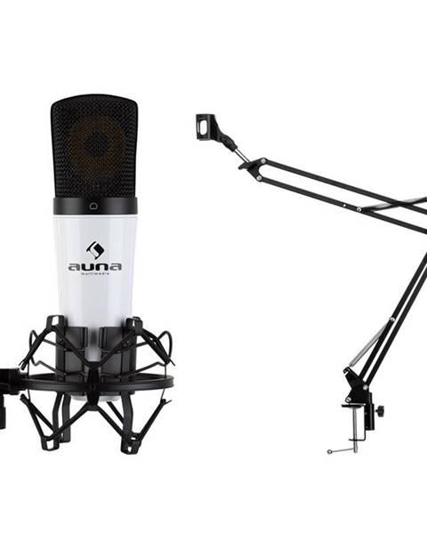 Auna Auna MIC-920, USB mikrofonní sada V3, kondenzátorový mikrofon, otočné rameno, ochranná taška