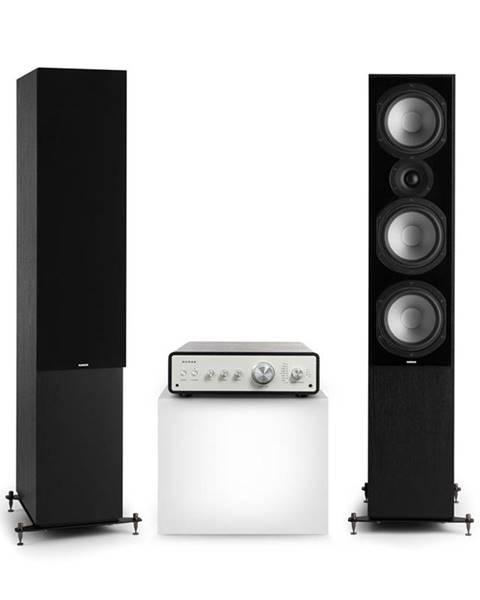 Numan Numan Drive 801, stereo sada, stereo zesilovač, věžový reproduktor, černá/černá