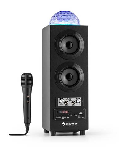 Auna DiscoStar Black, přenosný bluetooth reproduktor, USB, akumulátor, LED, mikrofon
