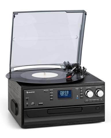 Auna Oakland DAB, retro stereo systém, DAB + / FM, BT -fce Vinyl CD kazety